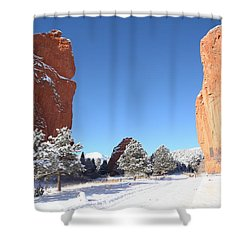 The Beautiful Gate Shower Curtain by Eric Glaser