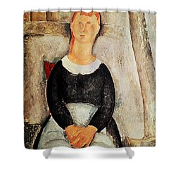 The Beautiful Grocer Shower Curtain by Amedeo Modigliani