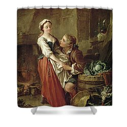 The Beautiful Kitchen Maid Shower Curtain by Francois Boucher