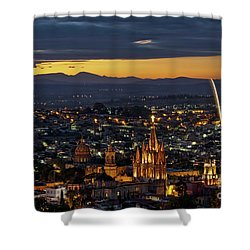 The Beautiful Spanish Colonial City Of San Miguel De Allende, Mexico Shower Curtain by Sam Antonio Photography