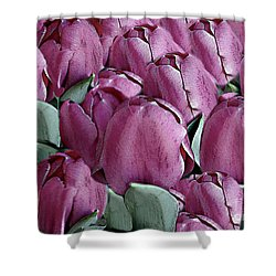 The Beauty And Depth Of A Bed Of Tulips Shower Curtain