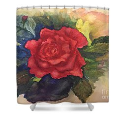 Shower Curtain featuring the painting The Beauty Of A Rose by Lucia Grilletto
