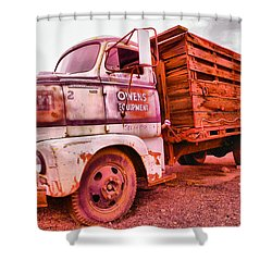 Shower Curtain featuring the photograph The Beauty Of An Old Truck by Jeff Swan