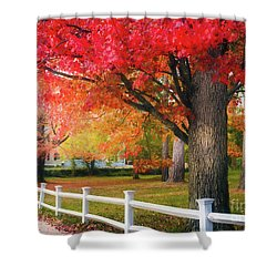 The Beauty Of Autumn In New England Shower Curtain
