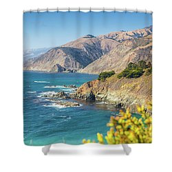 The Beauty Of Big Sur Shower Curtain by JR Photography