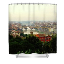 Shower Curtain featuring the photograph The Beauty Of Florence  by Alan Lakin