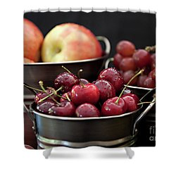 The Beauty Of Fresh Fruit Shower Curtain by Sherry Hallemeier