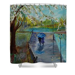 The Beauty Of It All Shower Curtain by Leslie Allen