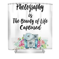 Shower Curtain featuring the digital art The Beauty Of Life by Colleen Taylor