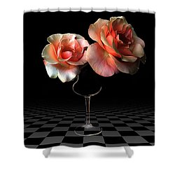 The Beauty Of Roses Shower Curtain