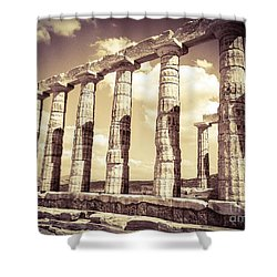 The Beauty Of The Temple Of Poseidon Shower Curtain