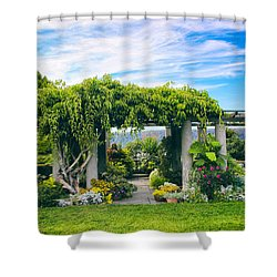 The Beauty Of Wave Hill Shower Curtain by Jessica Jenney