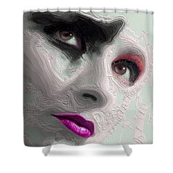 The Beauty Regime Pink Shower Curtain by ISAW Gallery