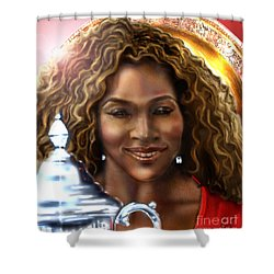 The Beauty Victory That Is Serena Shower Curtain by Reggie Duffie