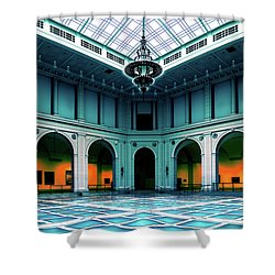 Shower Curtain featuring the photograph The Beaux-arts Court by Chris Lord