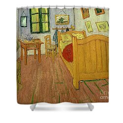 The Bedroom Shower Curtain by Vincent van Gogh