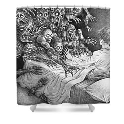 The Bedside Lamp Shower Curtain