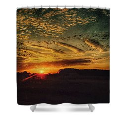 The Beginning  Shower Curtain by Deborah Klubertanz