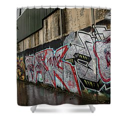 The Belfast Peace Wall Shower Curtain