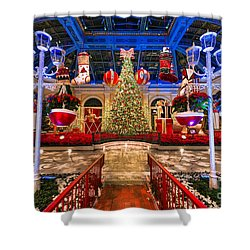 The Bellagio Christmas Tree And Decorations 2015 Shower Curtain by Aloha Art