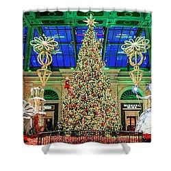 The Bellagio Christmas Tree Panorama 2017 Shower Curtain