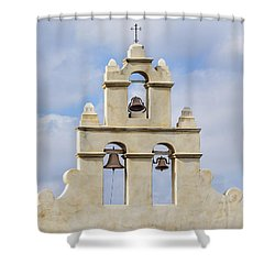 Shower Curtain featuring the photograph The Bells Of San Juan by Mary Jo Allen