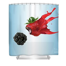 Shower Curtain featuring the photograph The Berries by Juli Scalzi