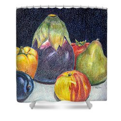 Shower Curtain featuring the drawing The Best Of Summer by Terry Taylor