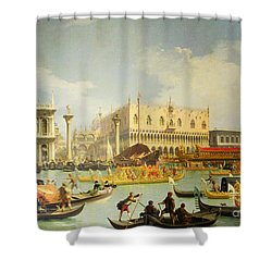 The Betrothal Of The Venetian Doge To The Adriatic Sea Shower Curtain by Canaletto