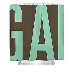 The Big Art - Pure Emerald On Cotton Shower Curtain by Serge Averbukh