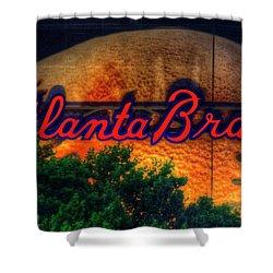 The Big Ball Atlanta Braves Baseball Signage Art Shower Curtain