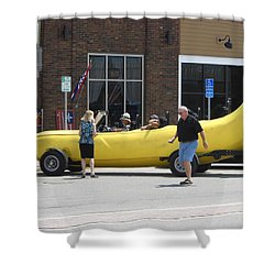 The Big Banana Car Stops By Shower Curtain