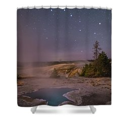 The Big Dipper In Yellowstone National Park Shower Curtain