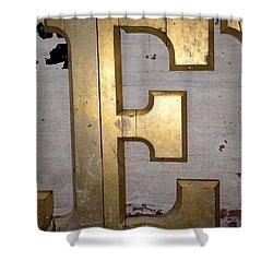 A Big Golden E Shower Curtain