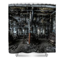 Shower Curtain featuring the digital art The Big Experiment  by Nathan Wright