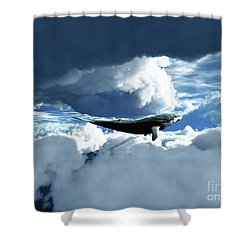 The Big Move Shower Curtain by Eric Nagel