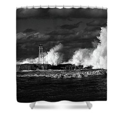 Shower Curtain featuring the photograph The Big One by Nareeta Martin