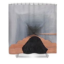 The Big Stairs Go Down Forever Shower Curtain