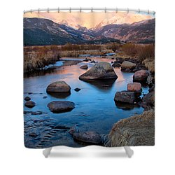 The Big Thompson River Flows Through Rocky Mountain National Par Shower Curtain
