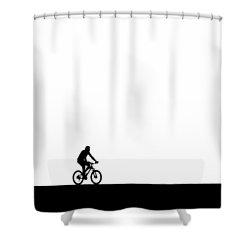 The Bike Ride  Shower Curtain