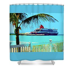 The Bimini Boat Shower Curtain