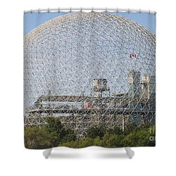 The Biosphere  Ile Sainte-helene Montreal Quebec Shower Curtain