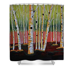 The Birch Forest Shower Curtain
