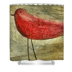 The Bird - Ft06 Shower Curtain by Variance Collections