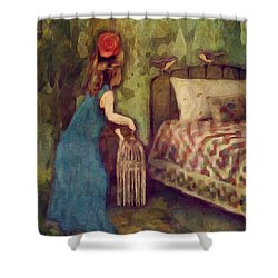 The Bird Catcher Shower Curtain