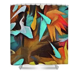 The Birds And The Bees Shower Curtain
