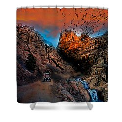 The Birds Of Window Rock Shower Curtain by J Griff Griffin