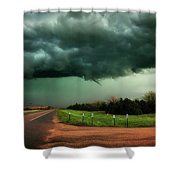 The Birth Of A Funnel Cloud Shower Curtain