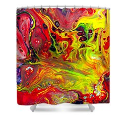 The Birth Of Diamonds - Abstract Colorful Mixed Media Painting Shower Curtain