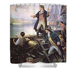 The Birth Of The Us National Anthem Shower Curtain by American School